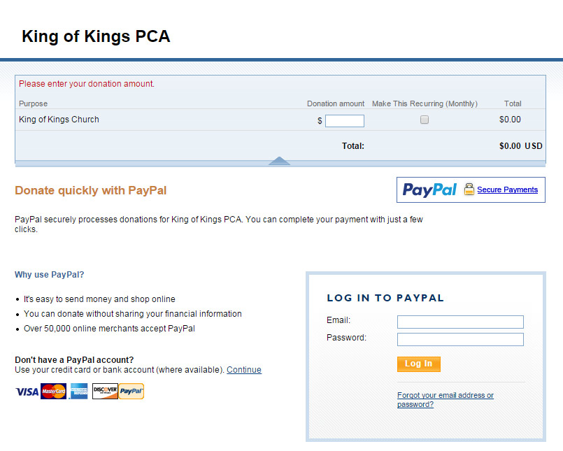 PayPal's form for sending money is very simple: Just provide an e-mail  address